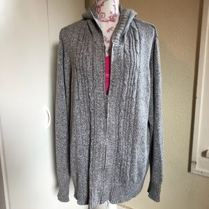 JMS Grey Hooded Zip Up Cardigan 4XL